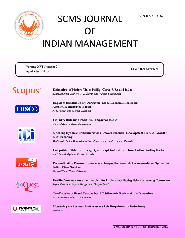 Home - SCMS Journal Of Indian Management